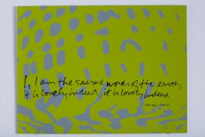 <I>I am the sacred words of the earth - shell writing #3</I>, 1976