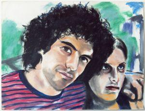 <i>Billy and Amy</i>, 1971 </br> pastel on paper, 88,9 x 116,8 cm / 35 x 46 in
