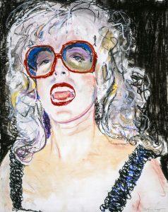 <i>blonde carol</i>, 1979 </br> pastel on paper, 72,1 x 55,9 cm / 28 x 22 in