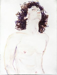 <i>brock</i>, 2014 </br> watercolor on paper, 61 x 45,7 cm / 24 x 18 in