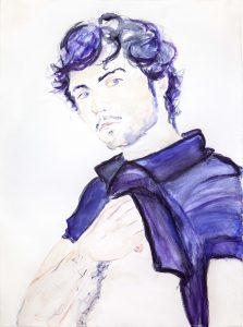 <i>Christian 1.21.08</i>, 2016 </br> watercolor on paper, 76,2 x 55,9 cm / 30 x 22 in