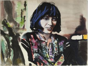 <i>Larissa #2</i>, 1972 </br> acrylic and pastel on paper, 76,2 x 101,6 cm / 30 x 40 in