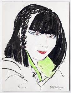 <i>sayoko</i>, 1996 </br> watercolor and ink on paper, 31,1 x 22,9 cm / 12.3 x 9 in