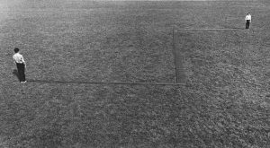 Franz Erhard Walther </br> <I>Z-Piece II (Inwards - towards one another)</I>, 1972 </br> (installation view)
