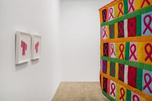 <i>Women are very good at crying and they should be getting paid for it</I>, 2018 </br> installation view, kaufmann repetto, New York