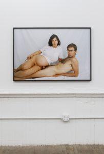 <I>seated portrait</I>, 2019 </br> inkjet print, 86,4 x 126,5 x 4 cm / 34 x 49.8 x 1.6 in