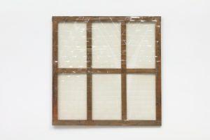 Carla Accardi, <I>Grande Trasparente</I>, 1975 </br> transparent plastic on wooden frame, 160 x 160 cm / 63 x 63 in