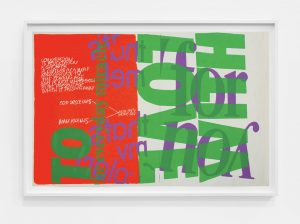 <i>with love to the everyday miracle</I>, 1967 </br> screenprint </br> 58,4 x 88,9 cm / 23 x 35 in