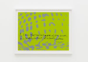 <I>i am the sacred words of the earth - shell writing #3</I>, 1976 </br> screenprint</br> 49,5 x 63,5 x 4 cm / 19.4 x 25 x 1.5 in (framed)