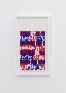 <I>american sampler</I>, 1969 </br> screenprint</br> 66,5 x 38 x 4 cm / 26.1 x 15 x 1.5 in (framed)