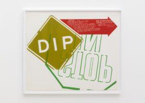<I>dip</I>, 1967 </br> screenprint</br> 83,5 x 99 x 4 cm / 32.8 x 38.9 x 1.5 in (framed)