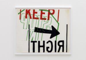 <I>left</I>, 1967 </br> screenprint</br> 83,5 x 99 x 4 cm / 32.9 x 38.9 x 1.6 in (framed)