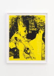<I>let the sun shine</I>, 1968 </br> screenprint</br> 81 x 66 x 4 cm / 31.8 x 26 x 1.5 (framed)