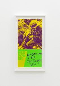 <I>manflowers</I>, 1969 </br> screenprint</br> 66,5 x 38 x 4 cm / 26.1 x 15 x 1.5 in (framed)