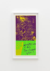 <I>moonflowers</I>, 1969 </br> screenprint</br> 66,5 x 38 x 4 cm / 26.1 x 15 x 1.5 in (framed)