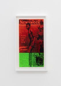 <I>news of the week</I>, 1969 </br> screenprint</br> 66,5 x 38,2 x 4 cm / 26.1 x 15 x 1.5 in (framed)