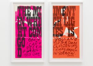 <I>only you and I</I>, 1969 </br> screenprint</br> each: 66 x 37 x 4 cm / 26 x 14.5 x 1.5 in (framed)
