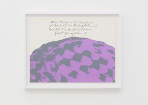 <I>our original nature - well writing #7</I>, 1976 </br> screenprint</br> 50 x 63,5 x 4 cm / 19.6 x 25 x 1.5 in (framed)