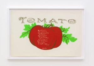 <I>tomato</I>, 1967 </br> screenprint</br> 66 x 96,5 x 4 cm / 25.9 x 38 x 1.5 in (framed)