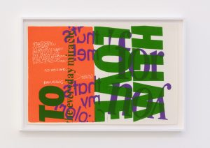 <I>with love to the everyday miracle</I>, 1967 </br> screenprint</br> 66 x 96,5 x 4 cm / 25.9 x 38 x 1.5 in (framed)