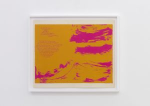 <I>you air that serves me</I>, 1963 </br> screenprint</br> 72,5 x 85,5 x 4 cm / 28.5 x 33.6 x 1.5 in (framed)