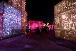<I>self roaming</i>, 2009 </br> installation view, Art Basel Miami