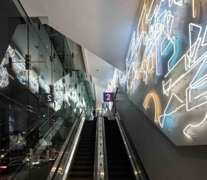 <I>Day for Night for Day</i>, 2019 </br> installation view, Beverly Center