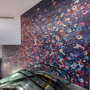 <I>Moonset for a sunrise</i>, 2020 </br> installation view, Beverly Center