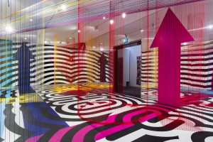 <I>pae white</i>, 2017 </br> installation view, nvg triennial