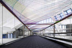 <I></i>, 2015 </br> installation view, Tom Bradley International Terminal  LAX