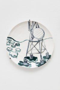 <I>Utitled</I>, 2021 </br> glazed ceramic</br> Ø 29,5 cm / 11.6 in