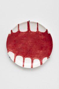 <I>Untitled</I>, 2021 </br> glazed ceramic</br> Ø 29,5 cm / 11.6 in
