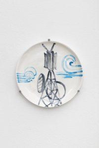 <I>Untitled</I>, 2021 </br> glazed ceramic</br> Ø 20,5 cm / 8 in