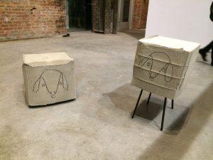 <I>Puddle, pothole, portal</i>, 2014 </br> installation view, Sculpture Center, New York