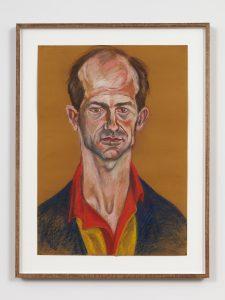 <I>Luis Frangella</I>, 1982 </br> chalk pastel on paper</br> 85 x 64,5 cm / 33.46 x 25.39 in (framed)