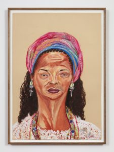 <I>Filha de Oyhá (Daughter of Oyhá)</I>, 2018 </br> oil and pastel on paper</br> 106 x 77 cm  / 41.7 x 30.3 in (framed)
