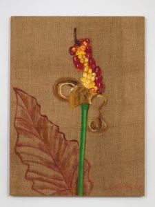 <I>Flor de río (River flower)</I>, 2004 </br> oil on burlap</br> 120,7 x 90,2 x 2,5 cm / 47.5 x 35.5 x 1 in