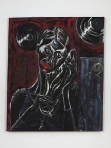 <I>Mi noche triste (My sad night)</I>, 2004 </br> pastel on burlap</br> 93 x 113 cm / 36.6 x 44.4 in