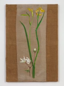 <I>Lirio (Lily)</I>, 2005 </br> oil on burlap</br> 89,9 x 61 x 2,5 cm / 35.3 x 24 x 1 in