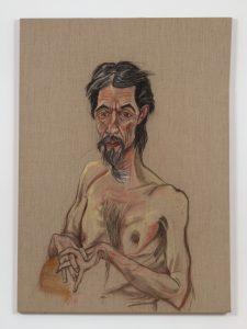 <I>Antonio</I>, 2014 </br> pastel on linen</br> 43 x 103 cm / 56.3 x 40.5 in