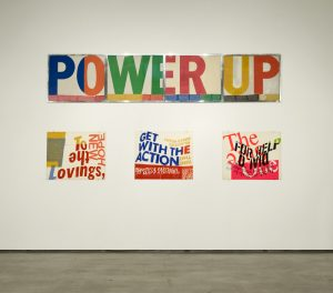 <I>Corita Kent - To create is to relate</i>, 2011 </br> installation view, Contemporary Art Gallery, Vancouver