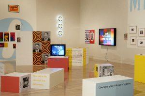 <I>Power Up: Sister Corita and Donald Moffett, Interlocking</i>, 2000 </br> installation view, Hammer Museum, Los Angeles