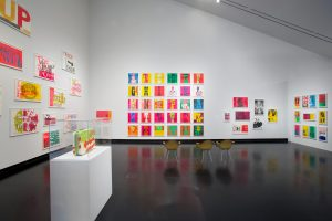 <I>Someday Is Now: The Art of Corita Kent</i>, 2013 </br> installation view, Tang Teaching Museum, Saratoga Springs