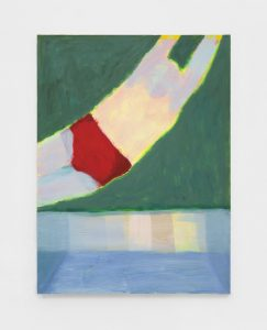 <I>Diver Red Suit</I>, 2021 </br> acrylic on canvas</br> 121,9 x 91,4 cm / 48 x 36 in