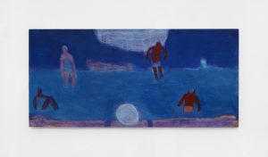 <I>Horizontal Swimmers</I>, 2021 </br> acrylic on canvas</br> 90,1 x 191,7 cm / 35.1 x 75.1 in