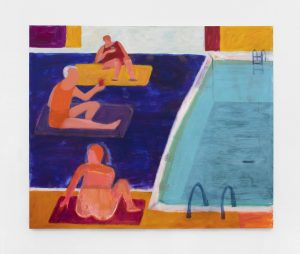 <I>Drinks by the Pool</I>, 2021 </br> acrylic on canvas</br> 152,4 x 182,8 cm / 60 x 72 in