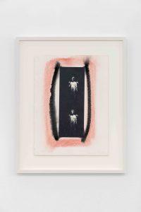 Emma Amos, <I>Skin</I>, 1994 </br> monotype with photo transfer</br> 51,5 x 41,5 x 4 cm / 20.3 x 16.3 x 1.6 in