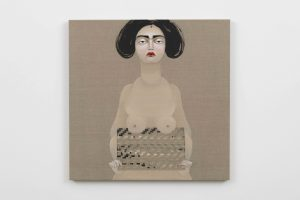 Hayv Kahraman, <I>The Appeal 12</I>, 2018 </br> oil on linen</br> 88,9 x 88,9 cm / 35 x 35 in