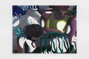 Jordan Kasey, <I>Friends</I>, 2021 </br> oil on canvas</br> 179,1 x 236,2 cm / 70.5 x 93 in