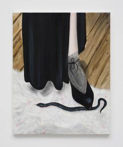 Katja Seib, <I>Jimmy Schuh</I>, 2021 </br> oil on canvas</br> 50,8 x 40,64 cm / 20 x 26 in